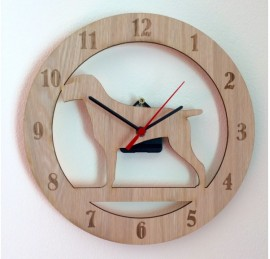 German Wirehaird Pointer Clock