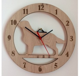 Golden Retriever Clock