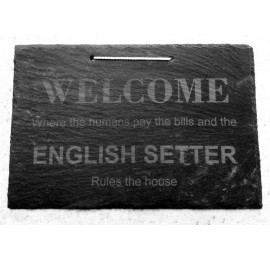 Slate Welcome Sign